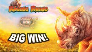large WIN on Raging rhinoceros Slot – £2.80 Bet