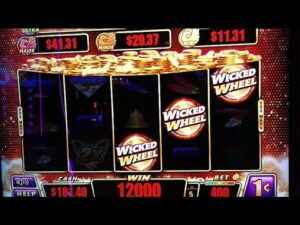 large WINS ON WICKED WHEEL AT WINSTAR casino bonus