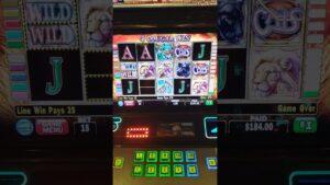 large win at Horseshoe casino bonus won 184$