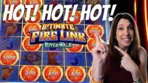💥$10 Bets are on flaming!! ULTIMATE flaming LINK Riverwalk ~ large WIN inward Las Vegas
