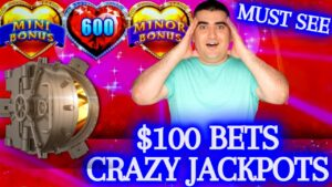 $100 Bets & CRAZY JACKPOTS ! Huge High boundary Slot Play & ✦TONS OF HANDPAY JACKPOTS✦ |  🔥😳🔥 | EP-11
