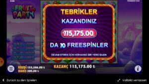 115.000 £ | FRUIT political party NICE | JACKPOT large WIN NICE OLANLAR OLDU YINE  terminate CARD VLOG #casinoslottv#