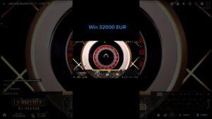 CRAZY large WIN 32000 EURO inwards ROULETTE casino bonus#shorts #casino bonus #blackjack
