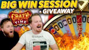 Crazy Time large Wins & large Giveaways!!! (novel GIVEAWAY LIVE)