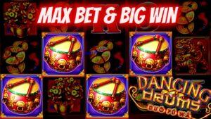 Dancing Drums Slot Machine Max Bet Bonus & large WIN | Live Slot Play At casino bonus | SE-11 | EP-2