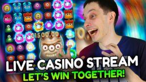 LIVE casino bonus flow! BONUS BUYS – Slots large Wins with mrBigSpin!