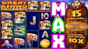 My Biggest Win EVER 😱 on This Slot Great rhinoceros 🍀🦏 Megaways €1.000 Bonus purchase Max Spin Max Multi‼️