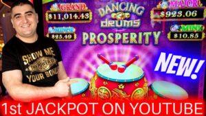 NEWEST Slot Machine & 1st HANDPAY JACKPOT On YouTube