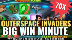 Outerspace Invaders large Win min 🎰 Chumba casino bonus Slots 💣 Online Slots #Shorts