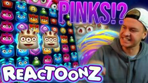 Reactoonz 15 PINKS!? HUGE WIN!