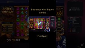 STREAMER large WIN inward SLOTS constituent 2 #shorts #casino bonus #blackjack