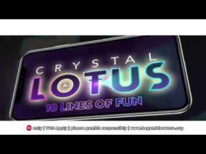 Slot Machine large Win Game Crystal Lotus  at casino bonus large apple tree Online