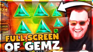 Streamer Ultra Insane large Win on Gems Bonanza slot – TOP BEST WINS OF THE DAILY !