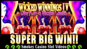 WICKED WINNINGS IV Slot Machine Super large WIn w/LIVE PLAY – As it Happens!