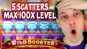 WILD BOOSTER large WIN! BONUS purchase 5 SCATTERS together with MAX 100x LEVEL!