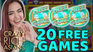 large WIN on CRAZY RICH ASIANS Slot Machine inwards Las Vegas!
