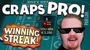 """Craps Pro"" Hitting it large!! (large Wins Session)"