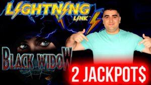 2 HANDPAY JACKPOTS On High bound Lightning Link & dark WIDOW Slots | Winning MONEY At casino bonus