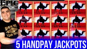 5 HANDPAY JACKPOTS On High bound Slots ! Winning Mega Bucks At casino bonus On Slot Machines
