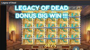 LEGACY OF DEAD BONUS large WIN