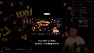 MAX WIN ON novel BUFFALO MEGAWAYS #shorts #casino bonus #blackjack