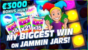 My BIGGEST WIN on JAMMIN JARS – €3000 SLOTS BONUS HUNT RESULTS