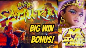 My first off large Wins on Wild Wild Samurai & Magic Link Celestial Queen