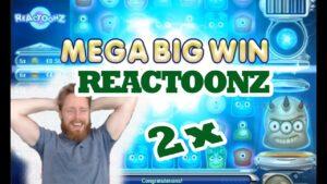 Reactoonz MEGA large WIN 2x!!