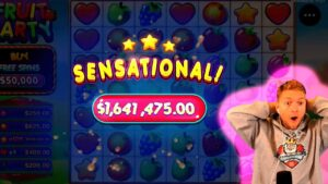 SUPER tape INSANE WIN! Streamer large Win on Fruit political party Slot! BIGGEST WINS OF THE calendar week! #76