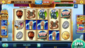 "ZEUS Video Slot casino bonus Game with a ""large WIN"" loose SPIN BONUS"