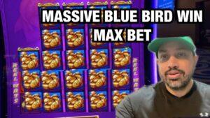 bluish BIRD HUGE WIN DOUBLE BLESSINGS SLOT AT RIVER SPIRIT casino bonus inward TULSA ! MAX BET $8.80!