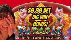 large WIN Bond $8 88 Bet! Fu Deo Le Wu Dragon & Kitty Glitter Bonuses