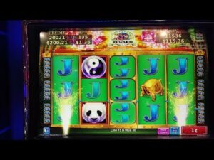 large WIN ON PANDA SHORES SLOTS AT WINSTAR casino bonus