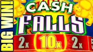 ★large WIN! A 10X MULTIPLIER!?★🤩 FINALLY REDEMPTION! CASH FALLS Slot Machine (SG)