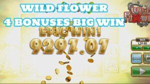 4 BONUSES WILD blossom large WIN MIZA 20 LEI