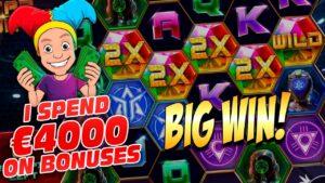MASSIVE €4000 Bonus Opening Results with many large WINS – casino bonus flow Highlights