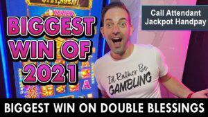 🤑 My BIGGEST JACKPOT OF 2021!!!! 🤑 Double Blessings Jackpot Handpay