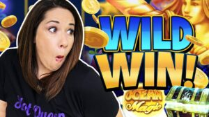 """WILD WIN !! SHE  """"TOOTED""""  inward THE casino bonus FOR A large WIN !!"""