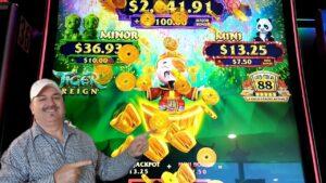 large WIN ON TIGER REIGN SLOTS AT WINSTAR casino bonus