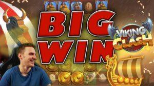 large WIN on Viking Clash Slot – £3 Bet