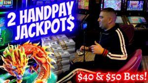 2 HANDPAY JACKPOT On High bound Slots ! Las Vegas casino bonus large Jackpot