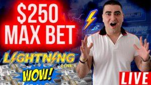 $250 A Spin LIGHTNING LINK ! 🔴$100,000 Live flow w/BIGGEST BETS