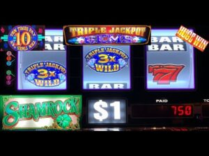 HIGH bound casino bonus SLOTS: x TIMES PAY + TRIPLE JACKPOT GEMS + DOUBLE SHAMROCK SLOT PLAY! HUGE WIN!!