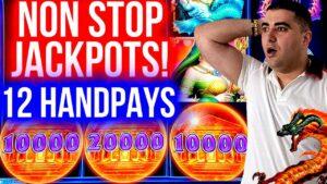 How It's POSSIBLE ? 12 HANDPAY JACKPOTS On High bound Slots   Winning Mega Bucks At casino bonus