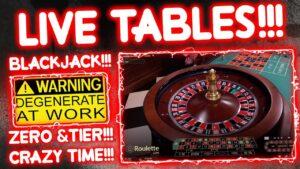 Live Roulette & Crazy Time Punts!! large Win???
