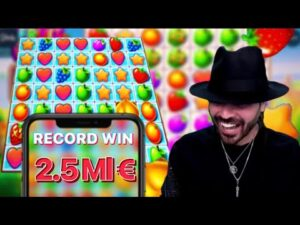 Roshtein win 3.000.000€ inward Fruit political party ! / ROSHTEIN large WIN / casino bonus Daddy / tape win Fruit political party