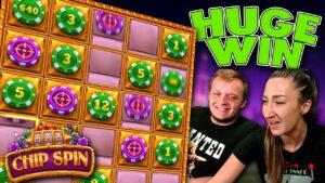 Surprise large Win on Chip Spin Bonus!