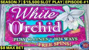 White Orchid Slot Machine $8 Max Bet Bonus & large Line Hits- Great Session   flavor-7   EPISODE #1