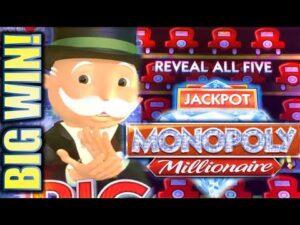 ★HUGE MONOPOLY large WIN!★ 🎩 MONOPOLY MILLIONAIRE & MONOPOLY JACKPOT STATION Slot Machine (SG)