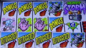 ★large WIN ! THE BEST BONUS ON THIS GAME EVER !★MONEY tempest DELUXE Slot (IGT) $3.00 Bet☆Slot Play☆栗スロ